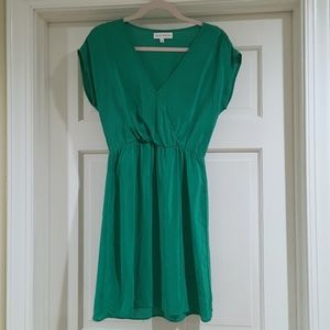 Amanda Uprichard Sz S Green Silk Dress